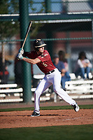Bailey Scroggin (6) of Basha High School in Gilbert, Arizona during the Baseball Factory All-America Pre-Season Tournament, powered by Under Armour, on January 13, 2018 at Sloan Park Complex in Mesa, Arizona.  (Mike Janes/Four Seam Images)
