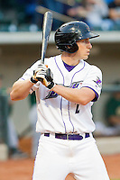 Kyle Shelton #2 of the Winston-Salem Dash at bat against the Lynchburg Hillcats at BB&T Ballpark on May 7, 2011 in Winston-Salem, North Carolina.   Photo by Brian Westerholt / Four Seam Images