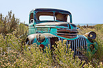 Abandoned rusty Chevrolet pickup truck, Harney County