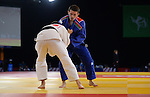 Wales Brendan Dodge in action against Cyprus C Trikomitis<br /> <br /> Photographer Ian Cook/Sportingwales<br /> <br /> 20th Commonwealth Games - Day 1 - Thursday 24th July 2014 - Judo  - SEEC- Glasgow - UK