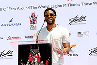 LOS ANGELES - July 18:  Chadwick Boseman at the Stan Lee Hand and Footprint Ceremony at the TCL Chinese Theater IMAX on July 18, 2017 in Los Angeles, CA
