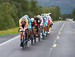 The breakaway group in action during Stage 2 of the 2018 Artic Race of Norway, running 195km from Tana to Kjøllefjord, Norway. 17th August 2018. <br /> <br /> Picture: ASO/Rune Dahl | Cyclefile<br /> All photos usage must carry mandatory copyright credit (© Cyclefile | ASO/Rune Dahl)