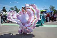 Luz Solano, Folklore Mexicano Tonantzin, Kent International Festival, Kent, WA, USA.