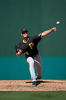 Pittsburgh Pirates pitcher Blake Weiman (79) during a Major League Spring Training game against the Minnesota Twins on March 16, 2021 at Hammond Stadium in Fort Myers, Florida.  (Mike Janes/Four Seam Images)