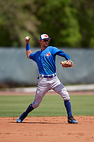 Toronto Blue Jays Kevin Vicuna (58) during a Minor League Spring Training game against the Philadelphia Phillies on March 29, 2019 at the Carpenter Complex in Clearwater, Florida.  (Mike Janes/Four Seam Images)