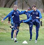 07.03.2019 Rangers training: Ross McCrorie and Borna Barisic