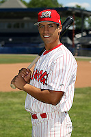 June 30th, 2007:  Mateo Marquez of the Batavia Muckdogs, Short-Season Class-A affiliate of the St. Louis Cardinals at Dwyer Stadium in Batavia, NY.  Photo by:  Mike Janes/Four Seam Images