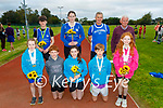 The Tralee Harriers Athletics club return to training on Tuesday evening and  congratulate their members who competed at the recent National athletics competition.  <br /> Kneeling l to r: Sadie Lynch, Jack Collins, Lucy Mulgrew, Sean Murphy and Aria Collins. Back l to r: Samuel Regan, Kirby Ann Ryan, Patsy O'Connor and Martin Fitzgerald (President).