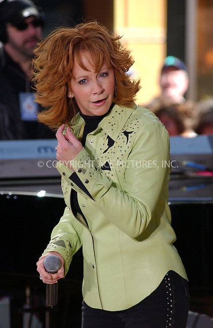 WWW.ACEPIXS.COM . . . . . ....NEW YORK, MAY 13, 2005....Reba McEntire performing on the Today Show at Rockefeller Center.....Please byline: KRISTIN CALLAHAN - ACE PICTURES.. . . . . . ..Ace Pictures, Inc:  ..Craig Ashby (212) 243-8787..e-mail: picturedesk@acepixs.com..web: http://www.acepixs.com