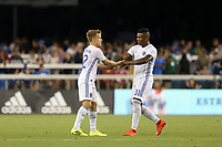SAN JOSE, CA - JULY 27: Tommy Thompson, Harold Cummings during a Major League Soccer (MLS) match between the San Jose Earthquakes and the Colorado Rapids on July 27, 2019 at Avaya Stadium in San Jose, California.