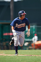 Atlanta Braves Jonathan Morales (20) during an instructional league game against the Toronto Blue Jays on September 30, 2015 at the ESPN Wide World of Sports Complex in Orlando, Florida.  (Mike Janes/Four Seam Images)
