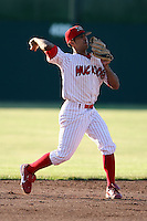 June 21st, 2007:  Oliver Marmol of the Batavia Muckdogs, Short-Season Class-A affiliate of the St. Louis Cardinals at Dwyer Stadium in Batavia, NY.  Photo by:  Mike Janes/Four Seam Images