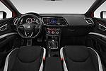 Stock photo of straight dashboard view of 2016 Seat Leon CUPRA 280 5 Door Hatchback Dashboard