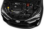 Car stock 2018 Toyota Yaris Lounge 5 Door Hatchback engine high angle detail view