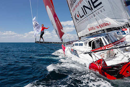 Sam Davies, the British Vendée Globe and Volvo Ocean Race skipper, was inspired by the Rolex Fastnet Race from a young age | Credit: Maxime Horlaville/polaRYSE/Initiatives-Coeur