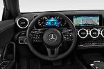 Car pictures of steering wheel view of a 2019 Mercedes Benz A-Class Progressive 5 Door Hatchback Steering Wheel