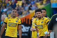 Julian and Ardie Savea during the Super Rugby Aotearoa match between the Hurricanes and Crusaders at Sky Stadium in Wellington, New Zealand on Sunday, 11 April 2020. Photo: Dave Lintott / lintottphoto.co.nz