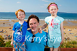 Enjoying the afternoon on Ballybunion beach on Tuesday, l to r: Archer, Richard and Marianne Langford from Ballybunion.