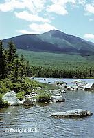 WF20-001z  Baxter State Park, Maine - Sandy Stream Pond, moose, Mt. Katahdin