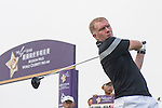 Paul Scholes tees off the 1st hole during the World Celebrity Pro-Am 2016 Mission Hills China Golf Tournament on 23 October 2016, in Haikou, China. Photo by Weixiang Lim / Power Sport Images