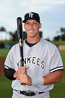Tampa Yankees outfielder Aaron Judge (59) poses for a photo before a game against the Clearwater Threshers on June 26, 2014 at Bright House Field in Clearwater, Florida.  Clearwater defeated Tampa 4-3.  (Mike Janes/Four Seam Images)