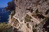 Italien, Capri, Via Krupp von Augustgärten nach Marina Piccola