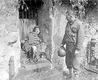 """This dead German soldier was one of the """"last stand"""" defenders of German-held Cherbourg.  Capt. Earl Topley, who led one of the first outfits into the fallen city, blamed him for killing three of his boys.  France, June 27, 1944.  Zwick.  (Army)<br /> NARA FILE #:  111-SC-193970<br /> WAR & CONFLICT BOOK #:  1050"""