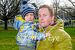 Enjoying a walk in the Tralee Town park on Tuesday, l to r: Olivier and Christopher Dawidowski.