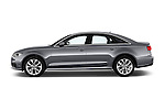 Car Driver side profile view of a 2016 Audi A6 - 4 Door Sedan Side View