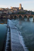 Europe/France/Midi-Pyrénées/81/Tarn/ Albi: La Cathédrale Ste-Cécile,le pont vieux et les vieilles maisons sur les bords du Tarn