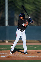 AZL D-backs Ismael Jaime (7) at bat during an Arizona League game against the AZL Mariners on July 3, 2019 at Salt River Fields at Talking Stick in Scottsdale, Arizona. The AZL D-backs defeated the AZL Mariners 3-1. (Zachary Lucy/Four Seam Images)