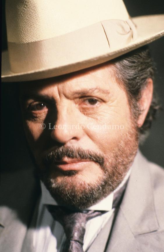 1990, Lido, Venezia, Italy, Marcello Mastroianni, actor, dolce vita, fellini,  © Leonardo Cendamo