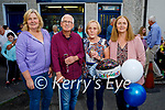 Jimmy and Eileen Moran as they close their shop after 34 years in Strand road on Friday and hand over the shop to sisters Mary McLoughlin Eileen Shanahan. L to r: Mary McLoughlin, Jimmy and Eileen Moran and Eileen Shanahan