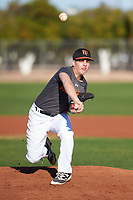 Andrew Alise (55), from Ithaca, New York, while playing for the Giants during the Under Armour Baseball Factory Recruiting Classic at Gene Autry Park on December 30, 2017 in Mesa, Arizona. (Zachary Lucy/Four Seam Images)