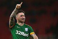 Preston North End's Sean Maguire applauds the fans at the final whistle <br /> <br /> Photographer Stephen White/CameraSport<br /> <br /> The EFL Sky Bet Championship - Stoke City v Preston North End - Saturday 26th January 2019 - bet365 Stadium - Stoke-on-Trent<br /> <br /> World Copyright © 2019 CameraSport. All rights reserved. 43 Linden Ave. Countesthorpe. Leicester. England. LE8 5PG - Tel: +44 (0) 116 277 4147 - admin@camerasport.com - www.camerasport.com<br /> <br /> Photographer Stephen White/CameraSport<br /> <br /> The EFL Sky Bet Championship - Stoke City v Preston North End - Saturday 26th January 2019 - bet365 Stadium - Stoke-on-Trent<br /> <br /> World Copyright © 2019 CameraSport. All rights reserved. 43 Linden Ave. Countesthorpe. Leicester. England. LE8 5PG - Tel: +44 (0) 116 277 4147 - admin@camerasport.com - www.camerasport.com
