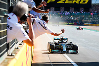 44 HAMILTON Lewis (gbr), Mercedes AMG F1 GP W12 E Performance, action win during the Formula 1 Pirelli British Grand Prix 2021, 10th round of the 2021 FIA Formula One World Championship from July 16 to 18, 2021 on the Silverstone Circuit, in Silverstone, United Kingdom - <br /> Formula 1 GP Great Britain Silverstone 18/07/2021<br /> Photo DPPI/Panoramic/Insidefoto <br /> ITALY ONLY