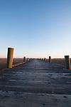 Wooden Dock vanishing Point Charleston South Carolina