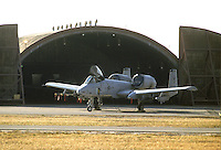 - aereo anticarro A 10 sulla base aerea USA di Aviano (Pordenone)....- antitank A 10 aircraft on the USA aerial base of  Aviano (Pordenone, Italy)