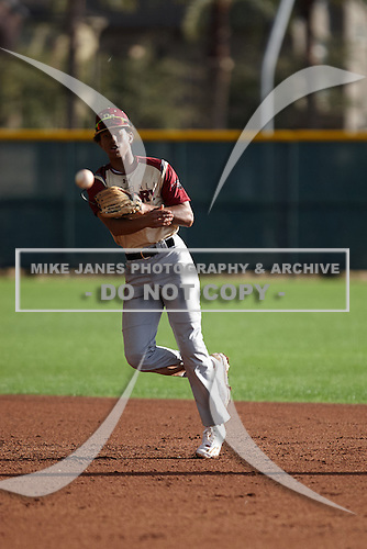 Matthew Corlew (5) of FLVS High School in Lake Worth, Florida during the Under Armour All-American Pre-Season Tournament presented by Baseball Factory on January 14, 2017 at Sloan Park in Mesa, Arizona.  (Kevin C. Cox/Mike Janes Photography)