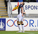 27/09/2008  Copyright Pic: James Stewart.File Name : sct_jspa24_falkirk_v_hamilton.SCOTT ARFIELD CELEBRATES AFTER HE SCORES FALKIRK'S FOURTH GOAL.James Stewart Photo Agency 19 Carronlea Drive, Falkirk. FK2 8DN      Vat Reg No. 607 6932 25.Studio      : +44 (0)1324 611191 .Mobile      : +44 (0)7721 416997.E-mail  :  jim@jspa.co.uk.If you require further information then contact Jim Stewart on any of the numbers above........