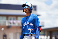 FCL Blue Jays J.J. D'Orazio (4) during a game against the FCL Yankees on June 29, 2021 at the Yankees Minor League Complex in Tampa, Florida.  (Mike Janes/Four Seam Images)
