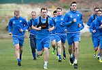 St Johnstone Training…16.05.17<br />Liam Craig and Joe Shaughnessy pictured during training this morning ahead of tomorrows game against Hearts.<br />Picture by Graeme Hart.<br />Copyright Perthshire Picture Agency<br />Tel: 01738 623350  Mobile: 07990 594431