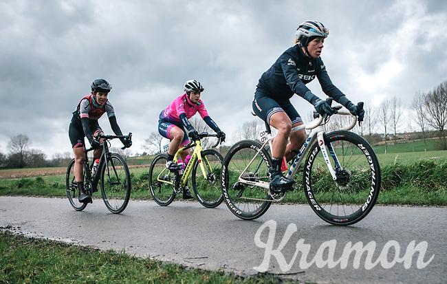 Trixie Worrack (GER/Trek Segafredo Women)<br /> <br /> 12th Women's Omloop Het Nieuwsblad 2020 (BEL)<br /> Women's Elite Race <br /> Gent – Ninove: 123km<br /> <br /> ©kramon