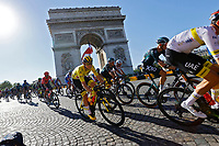 18th July 2021; Paris, France;  POGACAR Tadej (SLO) of UAE TEAM EMIRATES at the Arc de Triophe during stage 21 of the 108th edition of the 2021 Tour de France cycling race, the stage of 108,4 kms between Chatou and finish at the Champs Elysees in Paris.