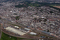 Aerial view of Arriva Trains depot near Ninian Park Cardiff