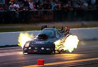 Sep 13, 2019; Mohnton, PA, USA; NHRA funny car driver Terry Haddock during the Reading Nationals at Maple Grove Raceway. Mandatory Credit: Mark J. Rebilas-USA TODAY Sports