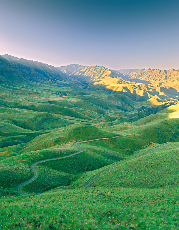 Road winding through Hells Canyon National Recreation Area. Oregon.