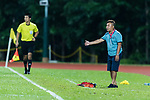 Wofoo Tai Po head coach Lee Chi Kin gestures during the Dreams FC vs Wofoo Tai Po match of the week one Premier League match at the Aberdeen Sports Ground on 26 August 2017 in Hong Kong, China. Photo by Yu Chun Christopher Wong / Power Sport Images