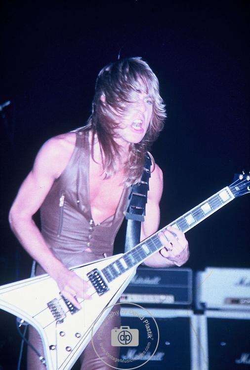 Randy Rhoads of Ozzy Osbourne's Blizzard of Oz performing live at Nassau Coliseum, N.Y. Aug 1981 Randy Rhoads