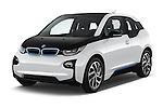 2017 BMW I3 Deka-World 5 Door Hatchback Angular Front stock photos of front three quarter view